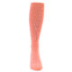 Image of Coral Solid Men's Over-the-Calf Dress Socks (front-04)
