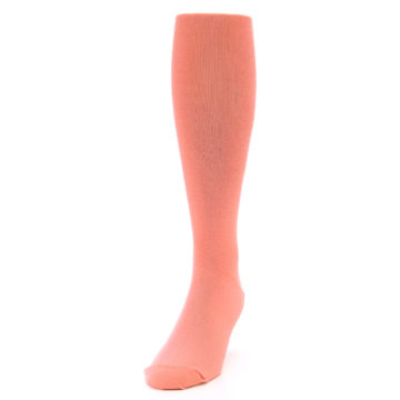 Image of Coral Solid Men's Over-the-Calf Dress Socks (side-2-front-06)