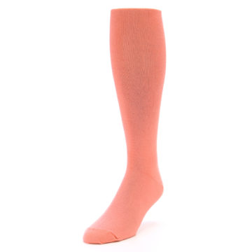 Image of Coral Solid Men's Over-the-Calf Dress Socks (side-2-front-07)