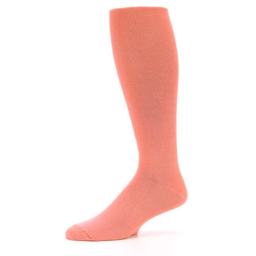Image of Coral Solid Men's Over-the-Calf Dress Socks (side-2-10)