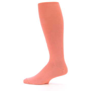 Image of Coral Solid Men's Over-the-Calf Dress Socks (side-2-12)