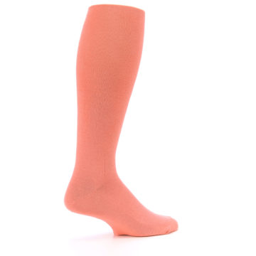 Image of Coral Solid Men's Over-the-Calf Dress Socks (side-1-23)
