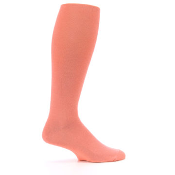 Image of Coral Solid Men's Over-the-Calf Dress Socks (side-1-24)