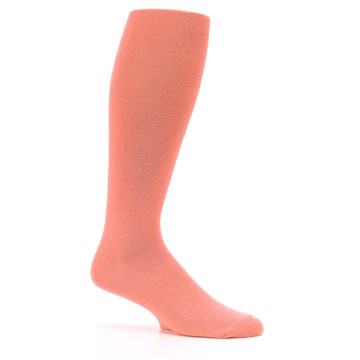Image of Coral Solid Men's Over-the-Calf Dress Socks (side-1-25)