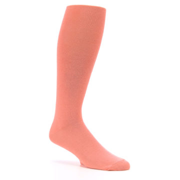 Image of Coral Solid Men's Over-the-Calf Dress Socks (side-1-26)