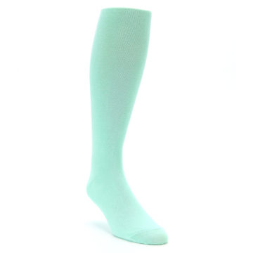 Image of Mint Solid Men's Over-the-Calf Dress Socks (side-1-front-02)