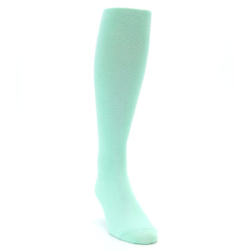 Image of Mint Solid Men's Over-the-Calf Dress Socks (side-1-front-03)