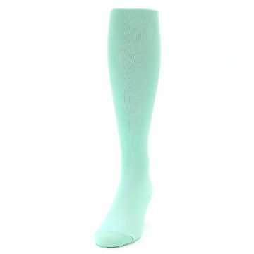 Image of Mint Solid Men's Over-the-Calf Dress Socks (side-2-front-06)