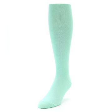 Image of Mint Solid Men's Over-the-Calf Dress Socks (side-2-front-07)