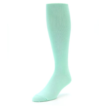 Image of Mint Solid Men's Over-the-Calf Dress Socks (side-2-front-08)