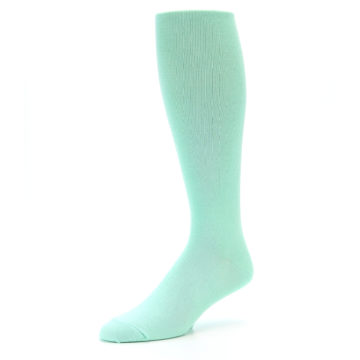 Image of Mint Solid Men's Over-the-Calf Dress Socks (side-2-09)