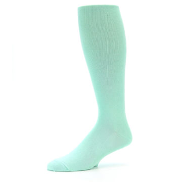 Image of Mint Solid Men's Over-the-Calf Dress Socks (side-2-10)