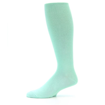 Image of Mint Solid Men's Over-the-Calf Dress Socks (side-2-11)