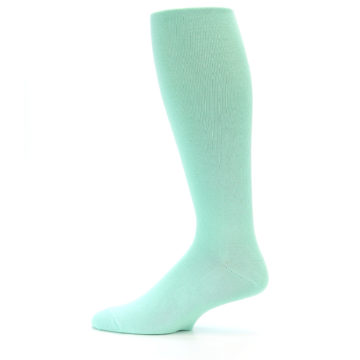 Image of Mint Solid Men's Over-the-Calf Dress Socks (side-2-12)