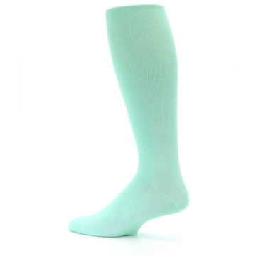 Image of Mint Solid Men's Over-the-Calf Dress Socks (side-2-13)