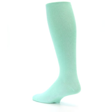 Image of Mint Solid Men's Over-the-Calf Dress Socks (side-2-back-14)