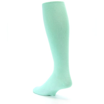 Image of Mint Solid Men's Over-the-Calf Dress Socks (side-2-back-15)
