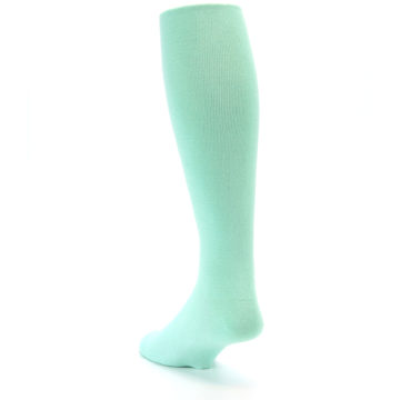 Image of Mint Solid Men's Over-the-Calf Dress Socks (side-2-back-16)