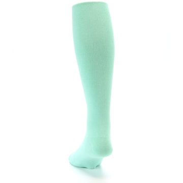 Image of Mint Solid Men's Over-the-Calf Dress Socks (back-17)