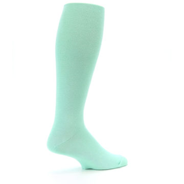 Image of Mint Solid Men's Over-the-Calf Dress Socks (side-1-23)