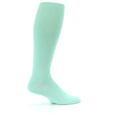 Image of Mint Solid Men's Over-the-Calf Dress Socks (side-1-24)