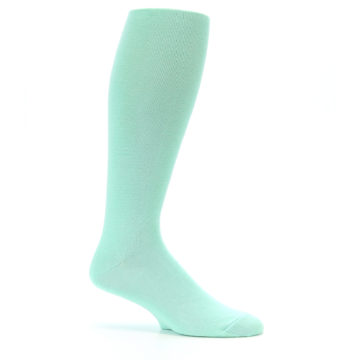 Image of Mint Solid Men's Over-the-Calf Dress Socks (side-1-25)