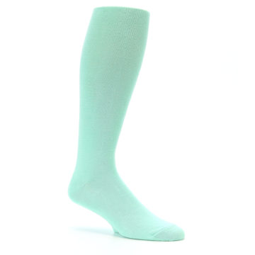 Image of Mint Solid Men's Over-the-Calf Dress Socks (side-1-26)