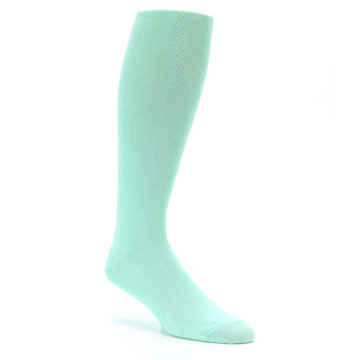 Image of Mint Solid Men's Over-the-Calf Dress Socks (side-1-27)