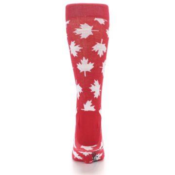 Image of Red White Canada Leaf Men's Dress Socks (back-18)