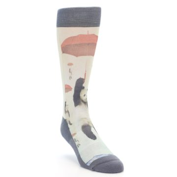 Image of Panda with Umbrella Men's Casual Socks (side-1-front-02)