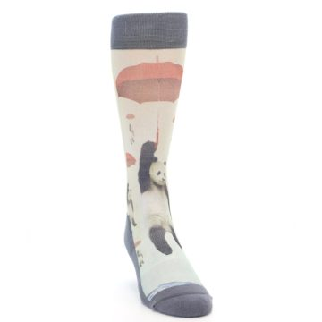 Image of Panda with Umbrella Men's Casual Socks (side-1-front-03)