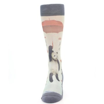 Image of Panda with Umbrella Men's Casual Socks (front-05)