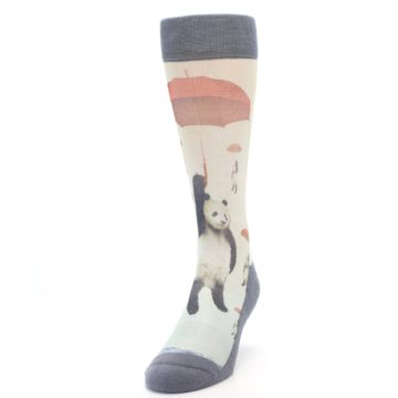 Image of Panda with Umbrella Men's Casual Socks (side-2-front-06)