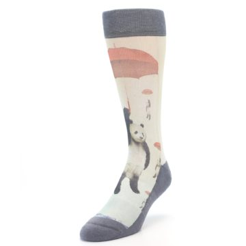 Image of Panda with Umbrella Men's Casual Socks (side-2-front-07)