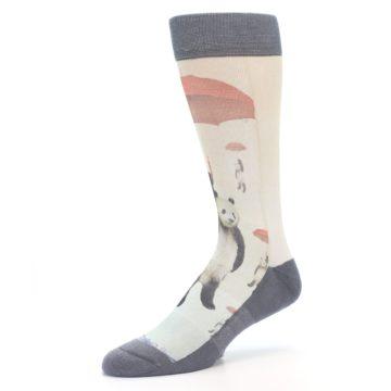 Image of Panda with Umbrella Men's Casual Socks (side-2-09)