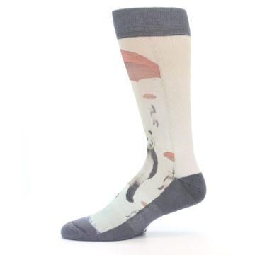 Image of Panda with Umbrella Men's Casual Socks (side-2-11)