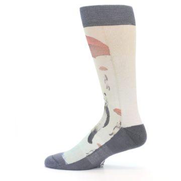 Image of Panda with Umbrella Men's Casual Socks (side-2-12)