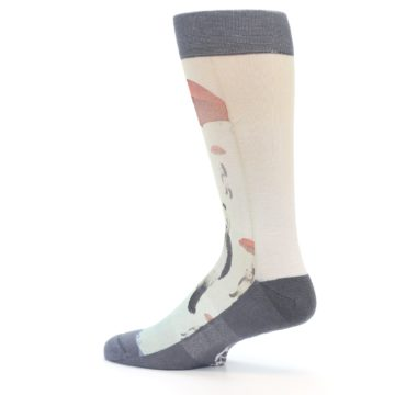 Image of Panda with Umbrella Men's Casual Socks (side-2-13)