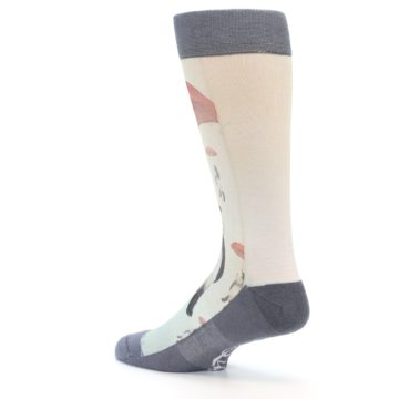 Image of Panda with Umbrella Men's Casual Socks (side-2-back-14)