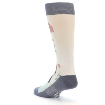Image of Panda with Umbrella Men's Casual Socks (side-2-back-15)