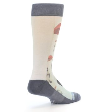 Image of Panda with Umbrella Men's Casual Socks (side-1-back-22)