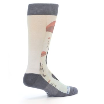 Image of Panda with Umbrella Men's Casual Socks (side-1-23)