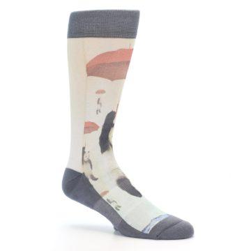 Image of Panda with Umbrella Men's Casual Socks (side-1-26)