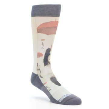Image of Panda with Umbrella Men's Casual Socks (side-1-27)