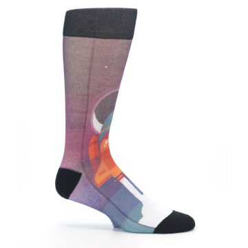 Image of Space Ship Launch Men's Casual Socks (side-1-25)