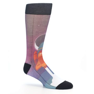 Image of Space Ship Launch Men's Casual Socks (side-1-26)