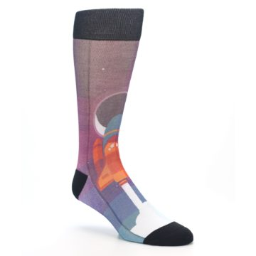 Image of Space Ship Launch Men's Casual Socks (side-1-27)