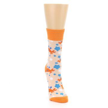 Image of Orange Blue Crabs Women's Dress Socks (side-1-front-03)