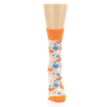 Image of Orange Blue Crabs Women's Dress Socks (front-04)