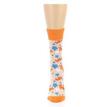 Image of Orange Blue Crabs Women's Dress Socks (front-05)